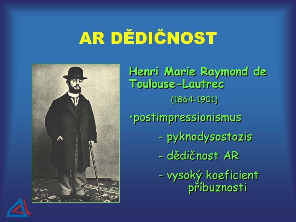 AR DĚDIČNOST Henri Marie Raymond de Toulouse-Lautrec