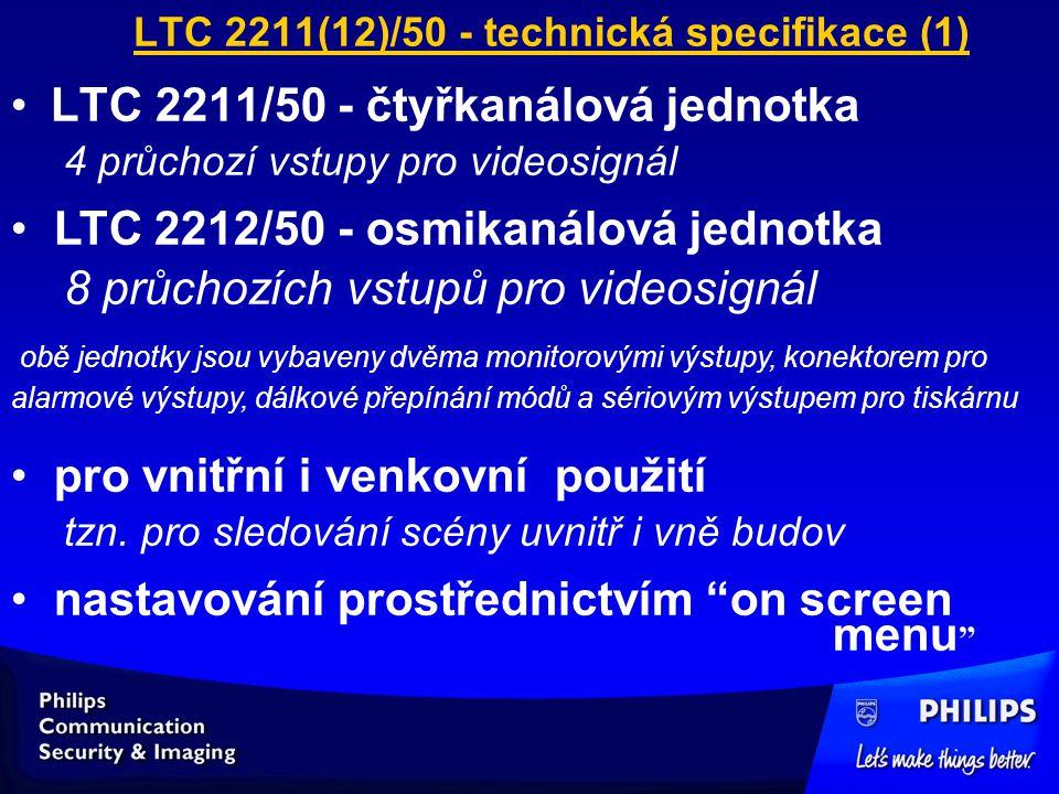 LTC 2211(12)/50 - technická specifikace (1)