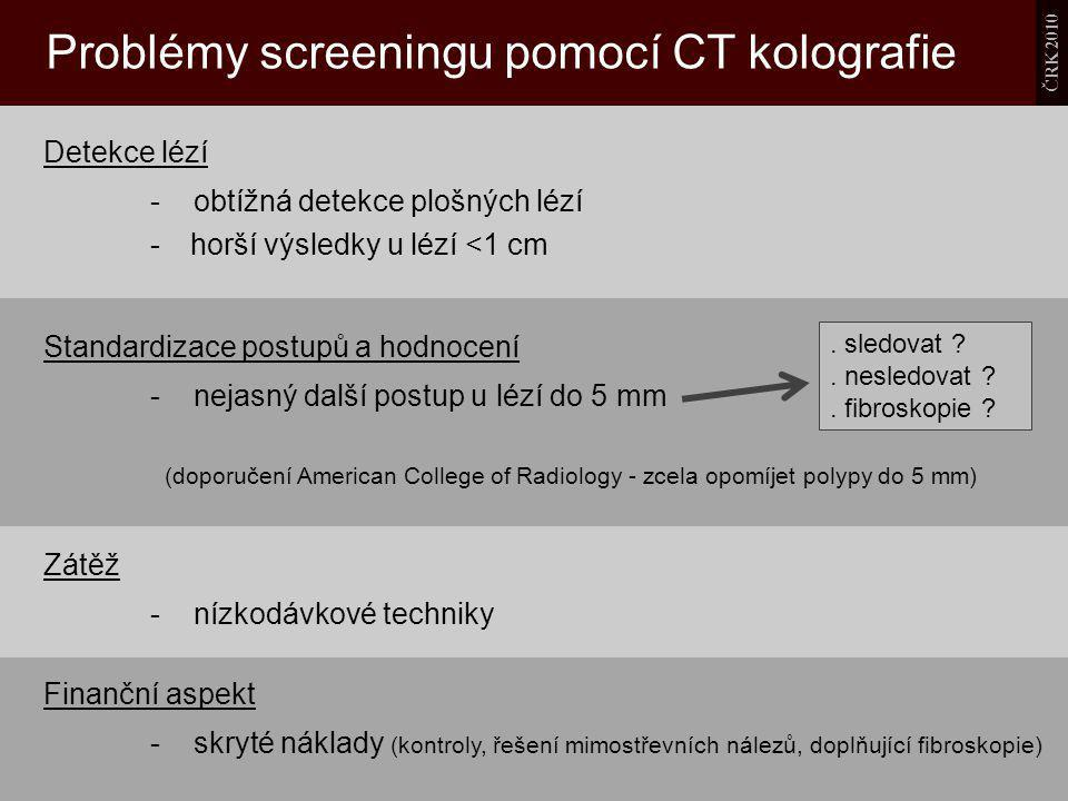 Problémy screeningu pomocí CT kolografie