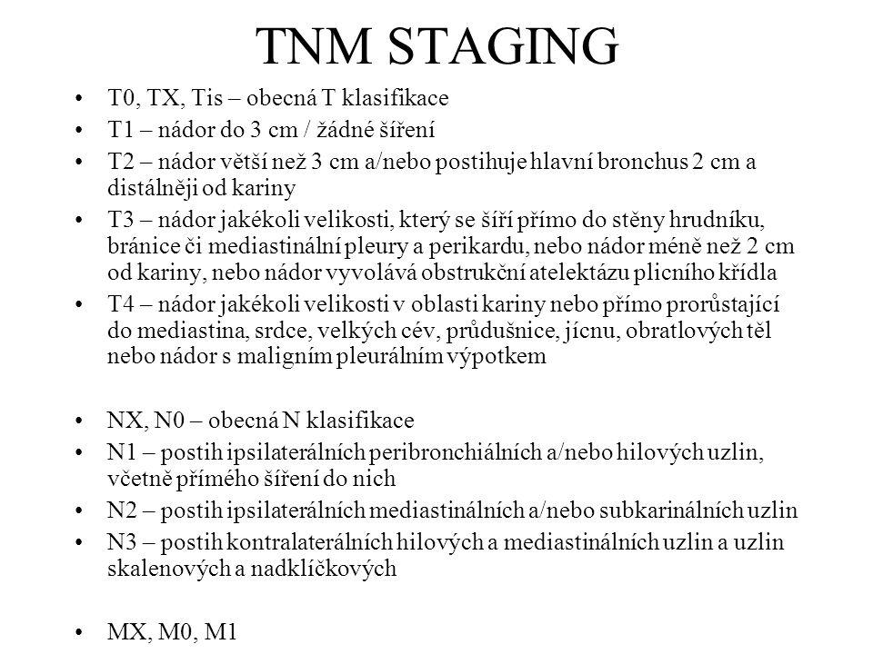 TNM STAGING T0, TX, Tis – obecná T klasifikace