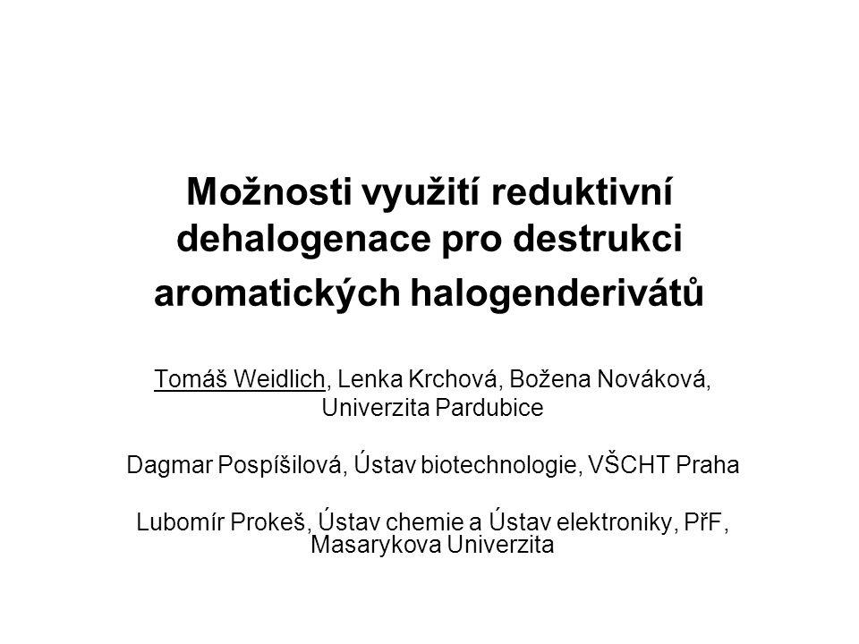 Možnosti využití reduktivní dehalogenace pro destrukci aromatických halogenderivátů