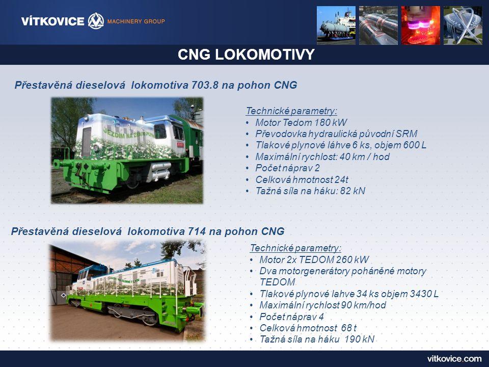 CNG LOKOMOTIVY Přestavěná dieselová lokomotiva 703.8 na pohon CNG