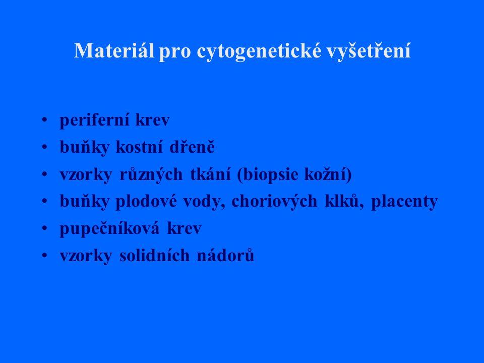 Materiál pro cytogenetické vyšetření