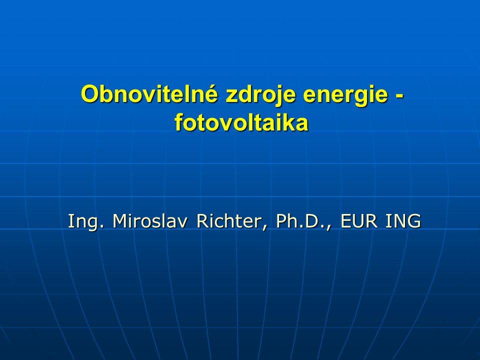 Obnovitelné zdroje energie - fotovoltaika