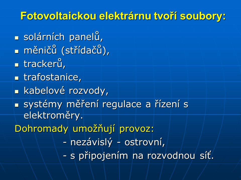 Fotovoltaickou elektrárnu tvoří soubory: