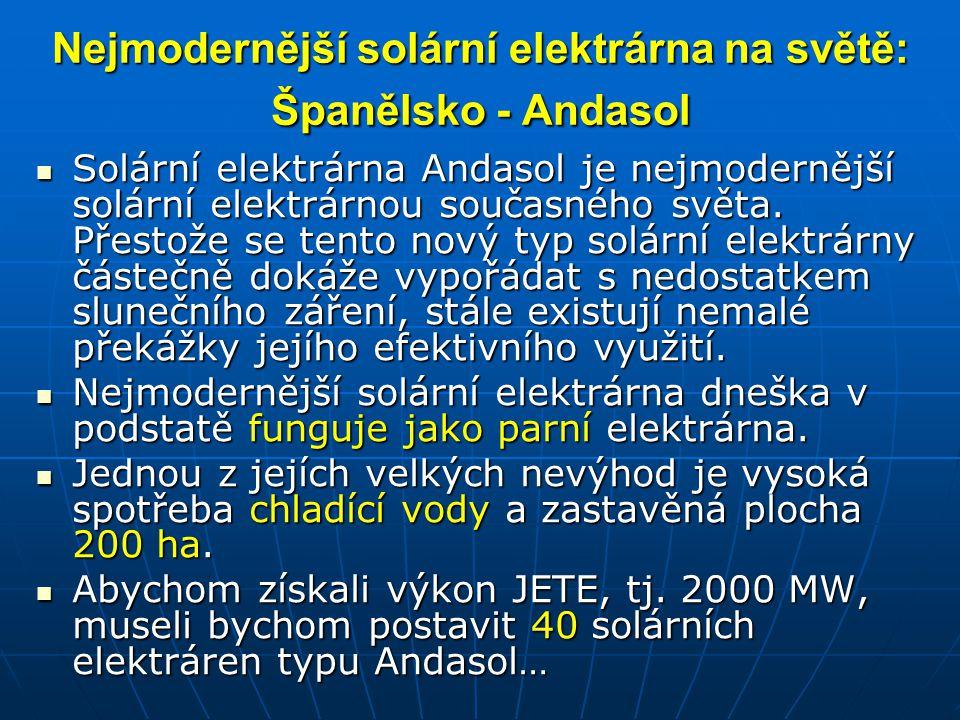 Nejmodernější solární elektrárna na světě: Španělsko - Andasol