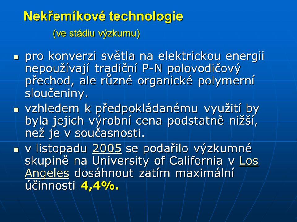 Nekřemíkové technologie (ve stádiu výzkumu)