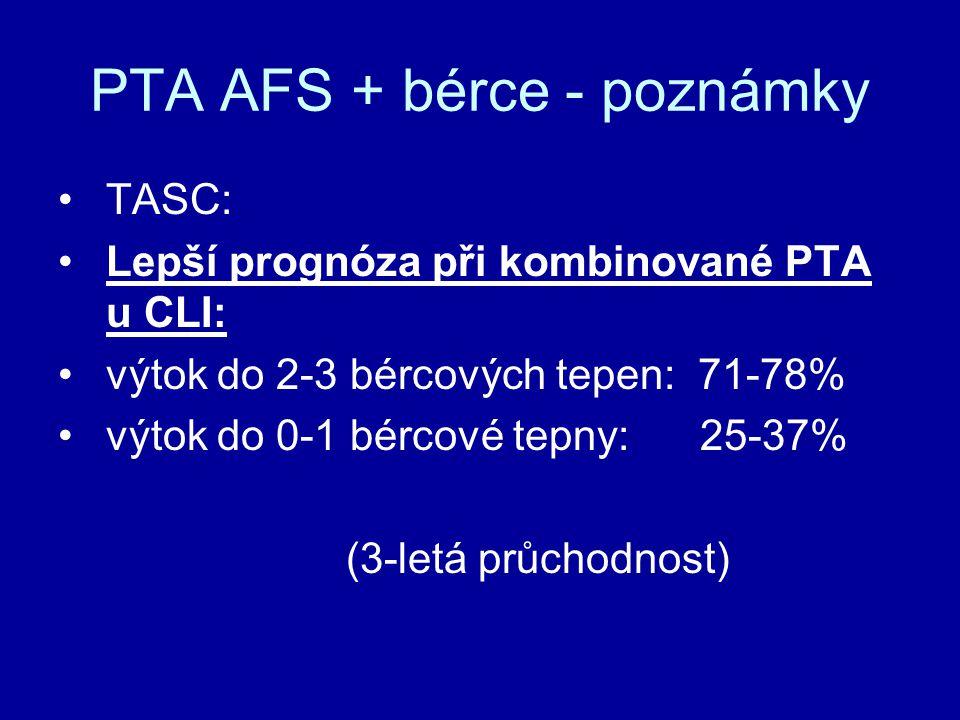 PTA AFS + bérce - poznámky