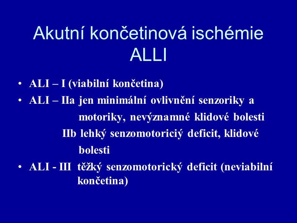 Akutní končetinová ischémie ALLI