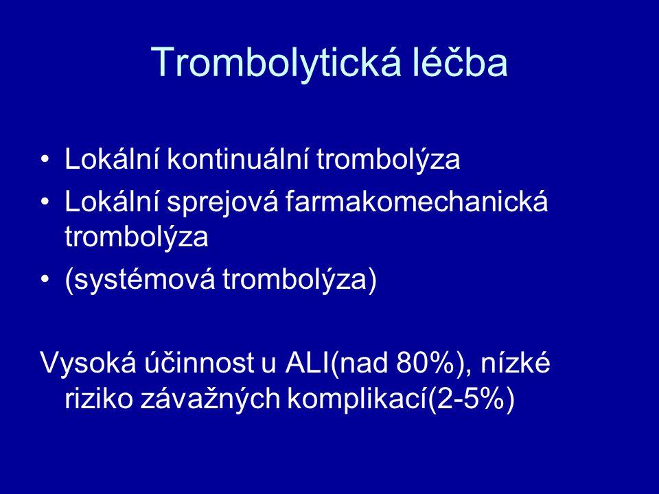 Trombolytická léčba Lokální kontinuální trombolýza