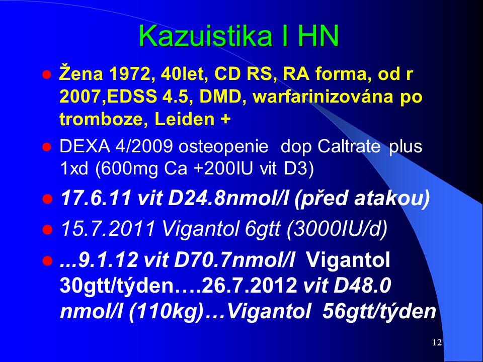 Kazuistika I HN 17.6.11 vit D24.8nmol/l (před atakou)