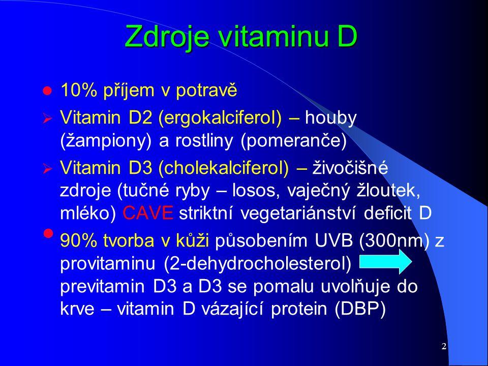 Zdroje vitaminu D 10% příjem v potravě