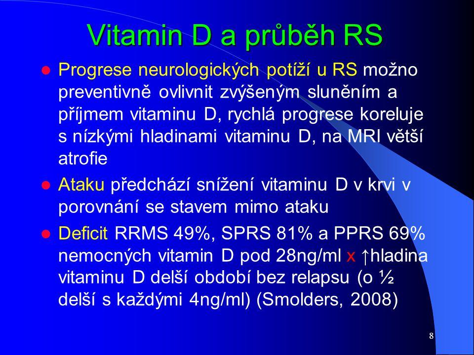 Vitamin D a průběh RS
