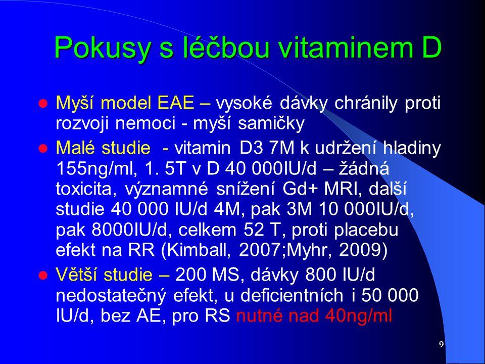 Pokusy s léčbou vitaminem D