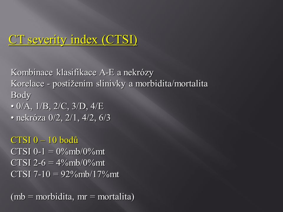 CT severity index (CTSI)