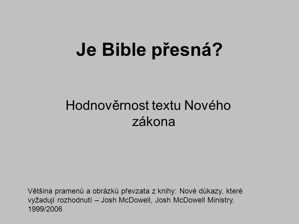Hodnověrnost textu Nového zákona