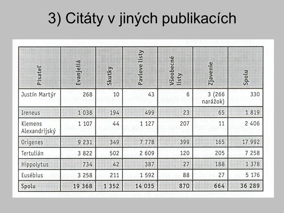 3) Citáty v jiných publikacích