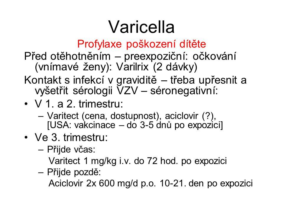 Varicella Profylaxe poškození dítěte