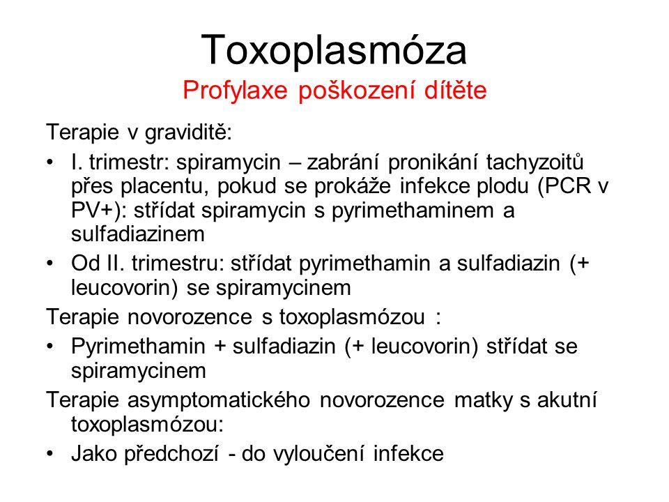 Toxoplasmóza Profylaxe poškození dítěte