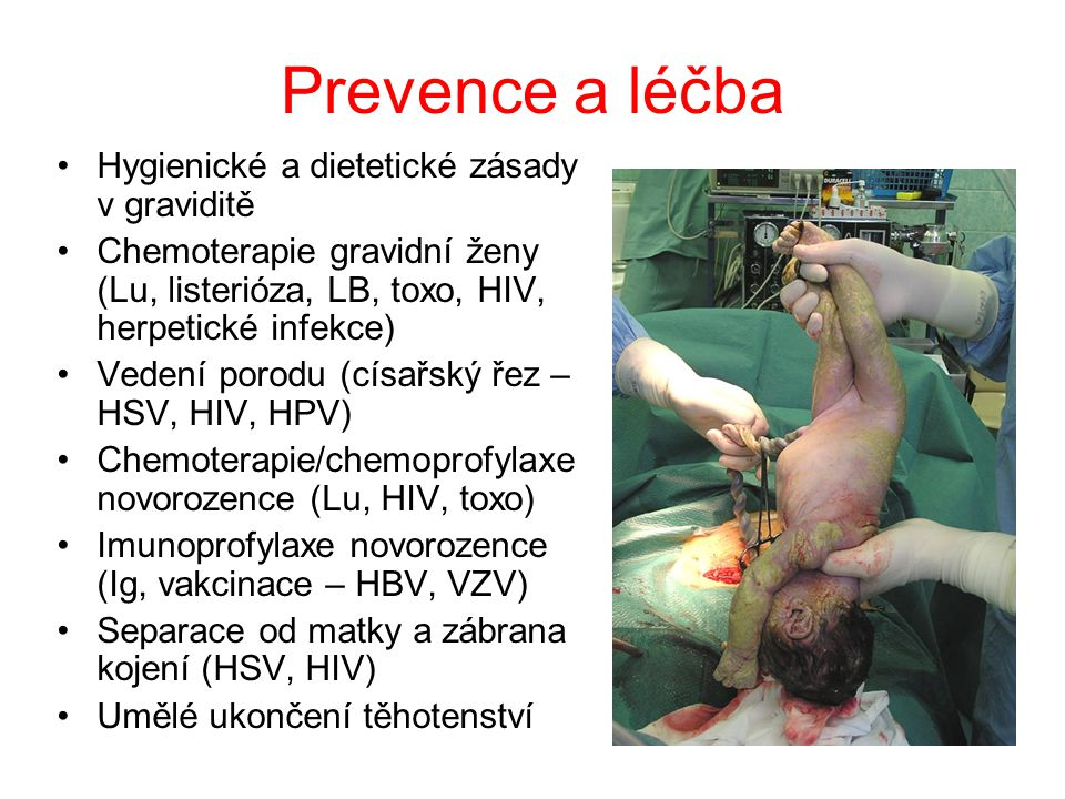 Prevence a léčba Hygienické a dietetické zásady v graviditě