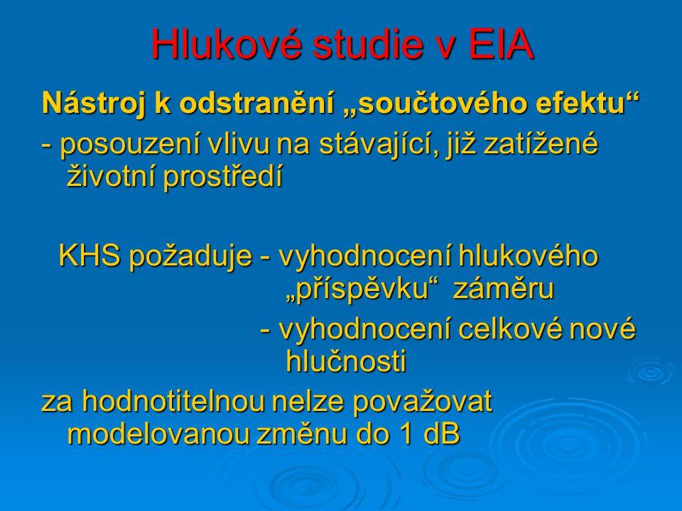 """Hlukové studie v EIA Nástroj k odstranění """"součtového efektu"""