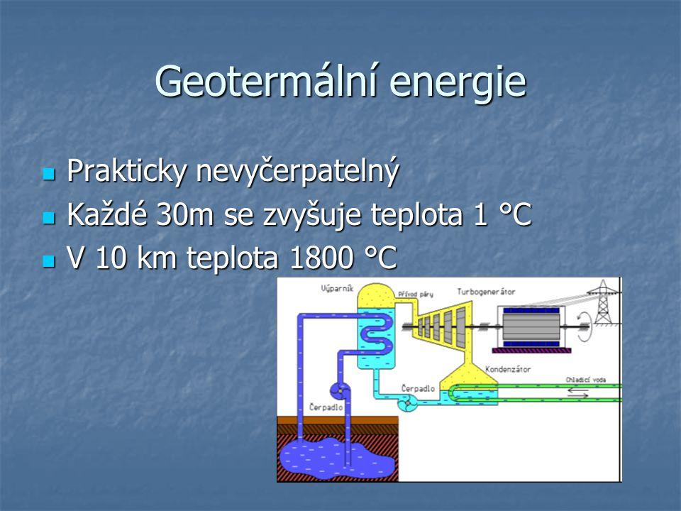 Geotermální energie Prakticky nevyčerpatelný
