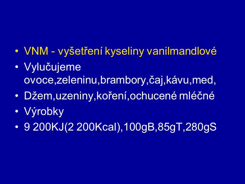 VNM - vyšetření kyseliny vanilmandlové