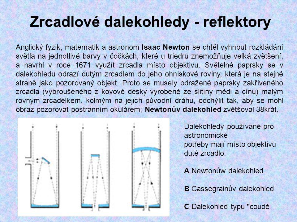 Zrcadlové dalekohledy - reflektory