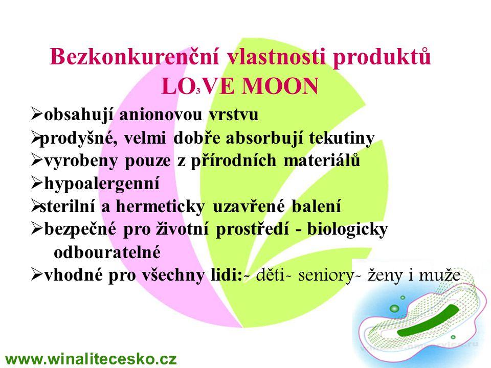 Bezkonkurenční vlastnosti produktů LO3VE MOON