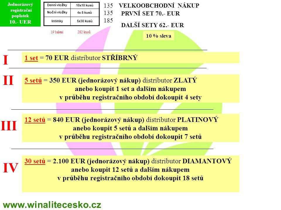 I II III IV www.winalitecesko.cz 1 set = 70 EUR distributor STŘÍBRNÝ