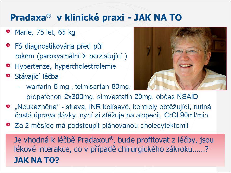 Pradaxa® v klinické praxi - Jak na to