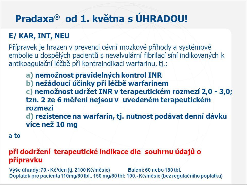 Pradaxa® od 1. května s ÚHRADOU!
