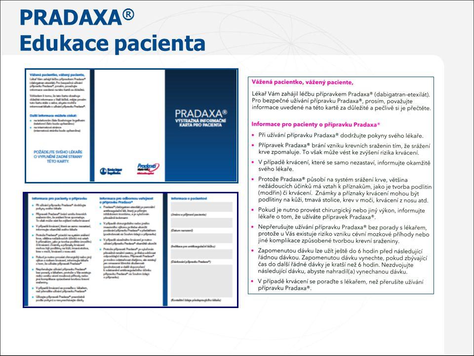 PRADAXA® Edukace pacienta