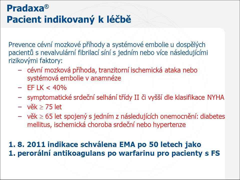 Pradaxa® Pacient indikovaný k léčbě