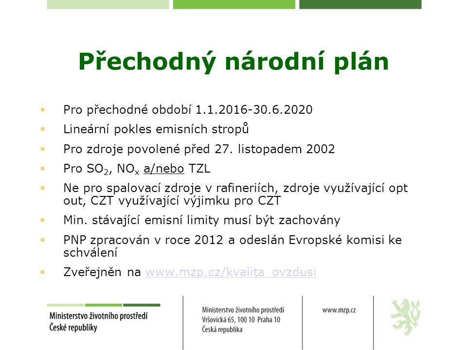 Přechodný národní plán