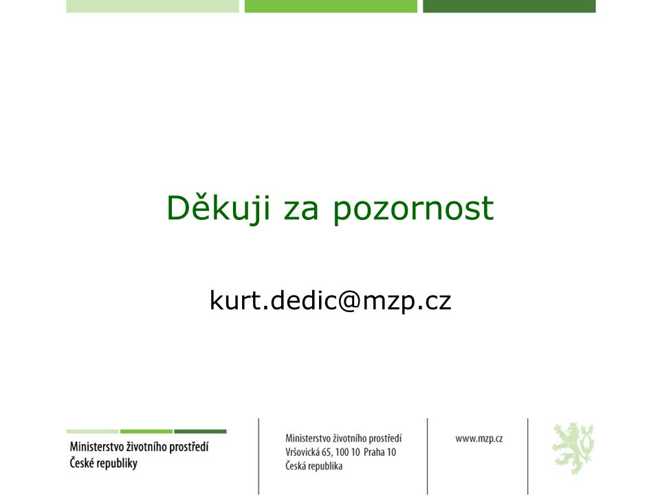 Děkuji za pozornost kurt.dedic@mzp.cz