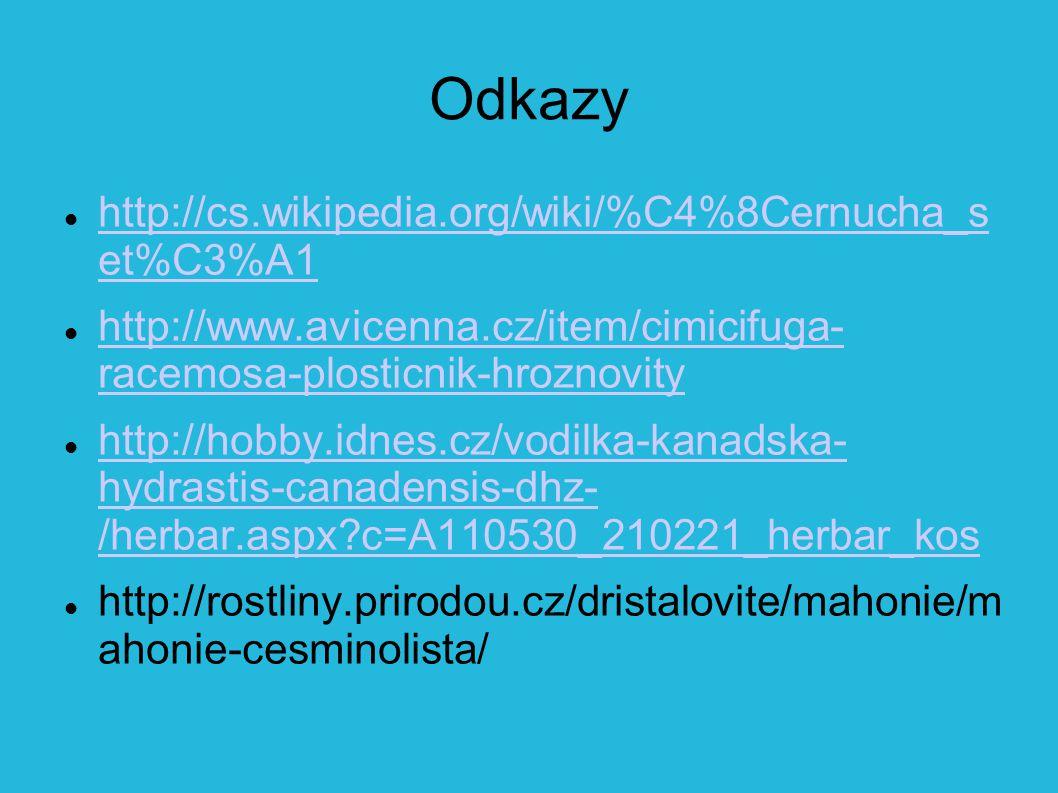 Odkazy http://cs.wikipedia.org/wiki/%C4%8Cernucha_s et%C3%A1