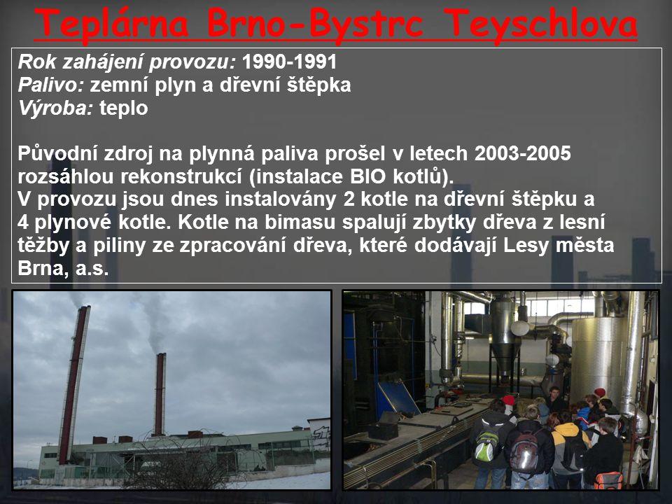 Teplárna Brno-Bystrc Teyschlova