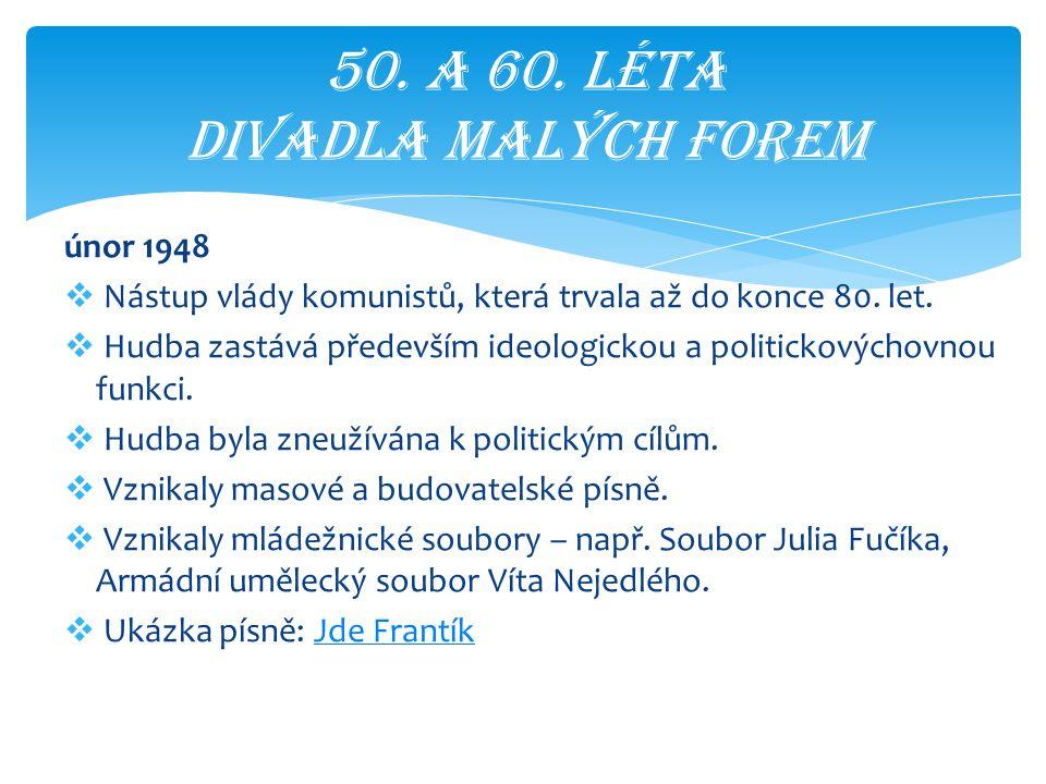 50. A 60. léta divadla malých forem
