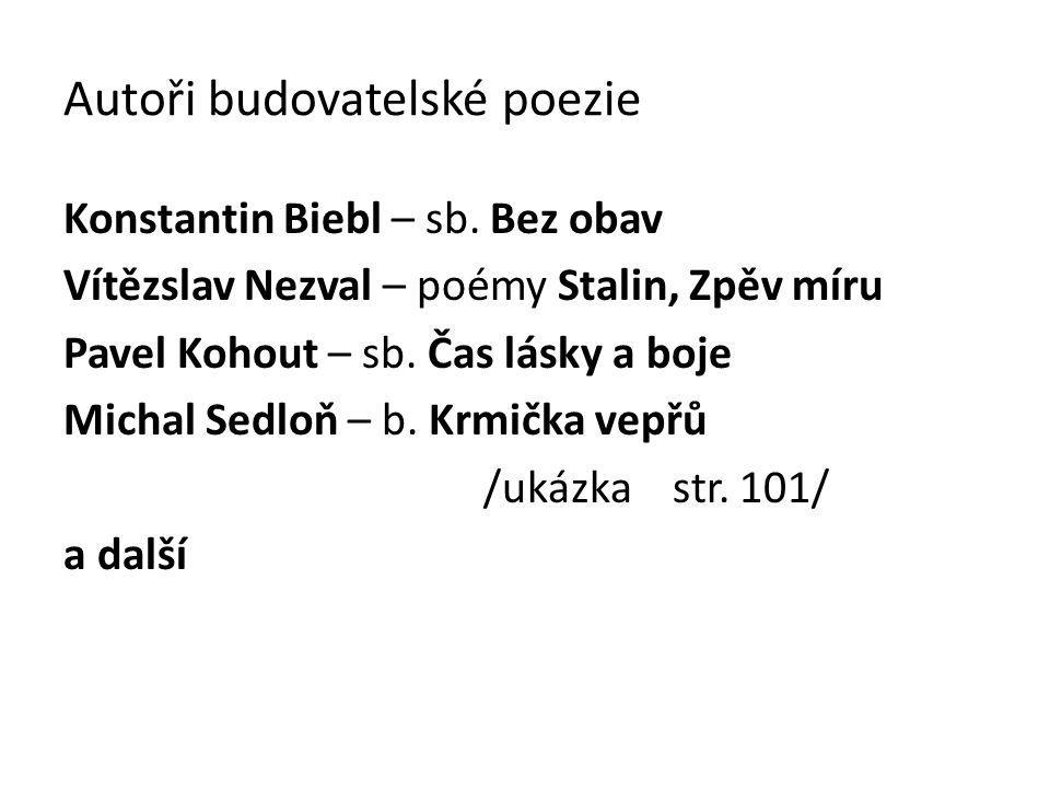 Autoři budovatelské poezie