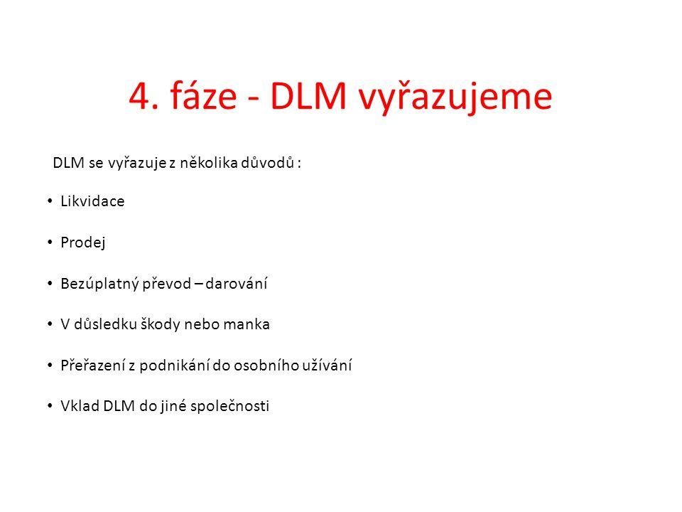 4. fáze - DLM vyřazujeme DLM se vyřazuje z několika důvodů : Likvidace