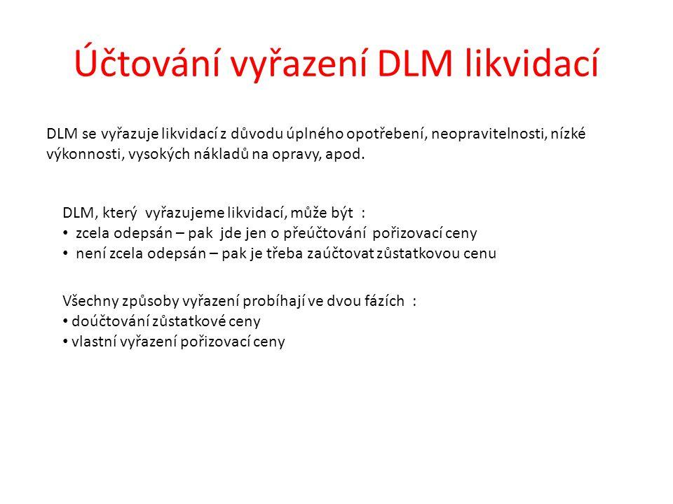 Účtování vyřazení DLM likvidací