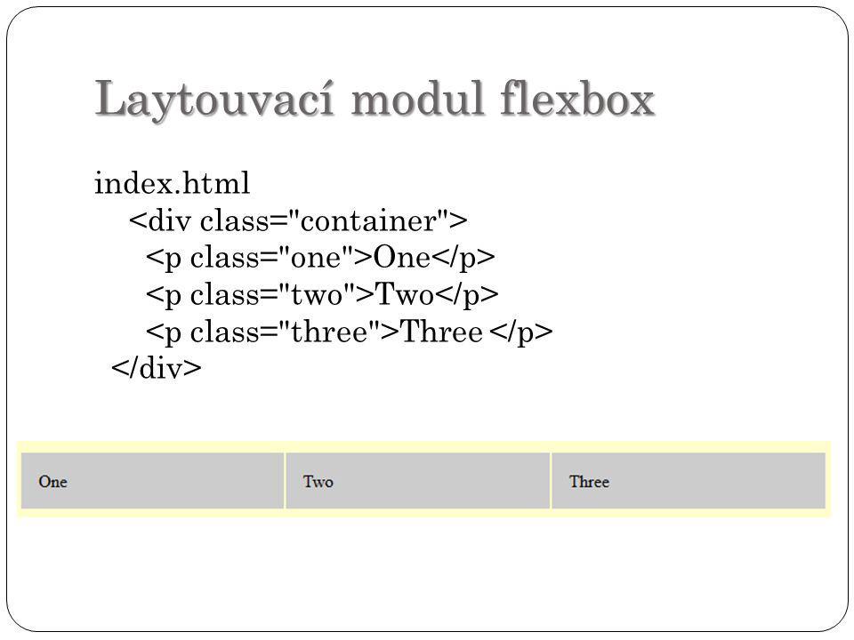 Laytouvací modul flexbox
