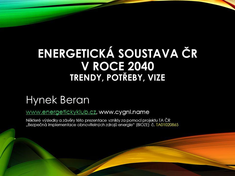 Energetická soustava ČR v roce 2040 trendy, potřeby, vize