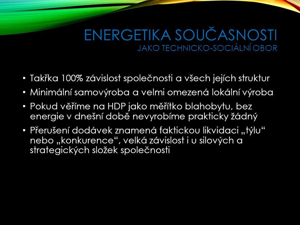 Energetika současnosti jako technicko-sociální obor