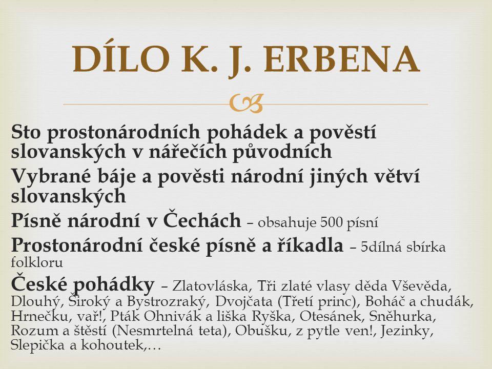 DÍLO K. J. ERBENA