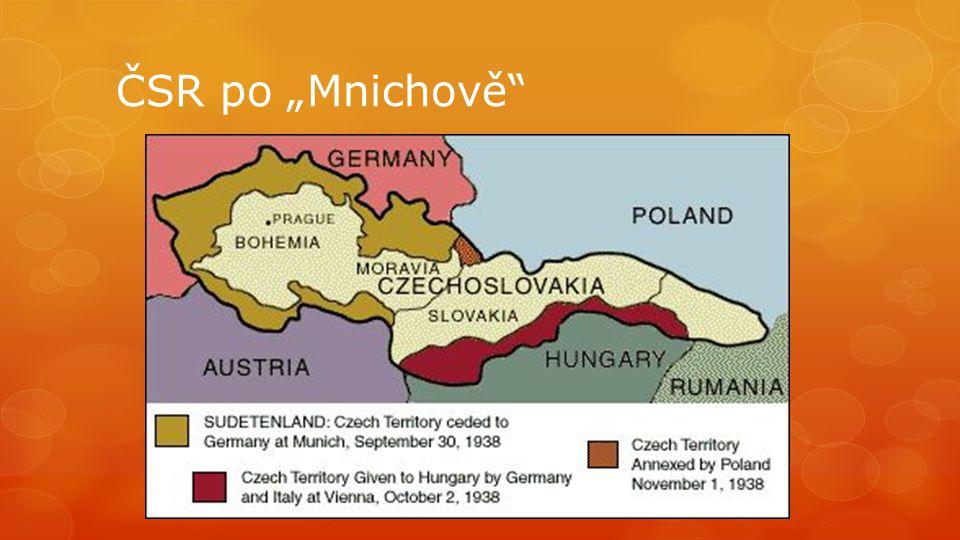 """ČSR po """"Mnichově"""