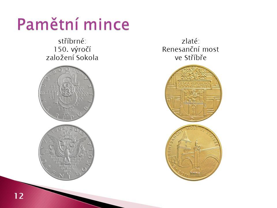 Pamětní mince 12 stříbrné: 150. výročí založení Sokola