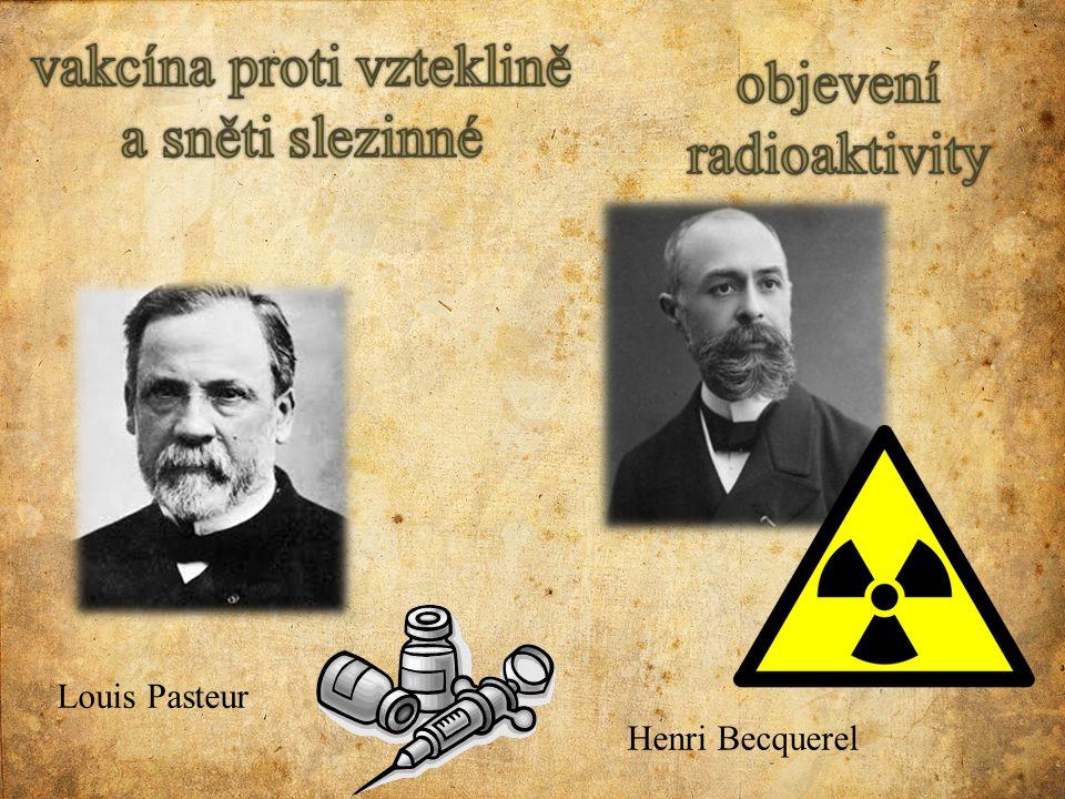 vakcína proti vzteklině a sněti slezinné objevení radioaktivity