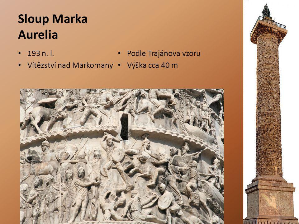 Sloup Marka Aurelia 193 n. l. Podle Trajánova vzoru